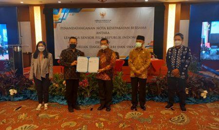 Penandatanganan Memorandum of Understanding (MoU) Lembaga Sensor Film Republik Indonesia (LSF RI)